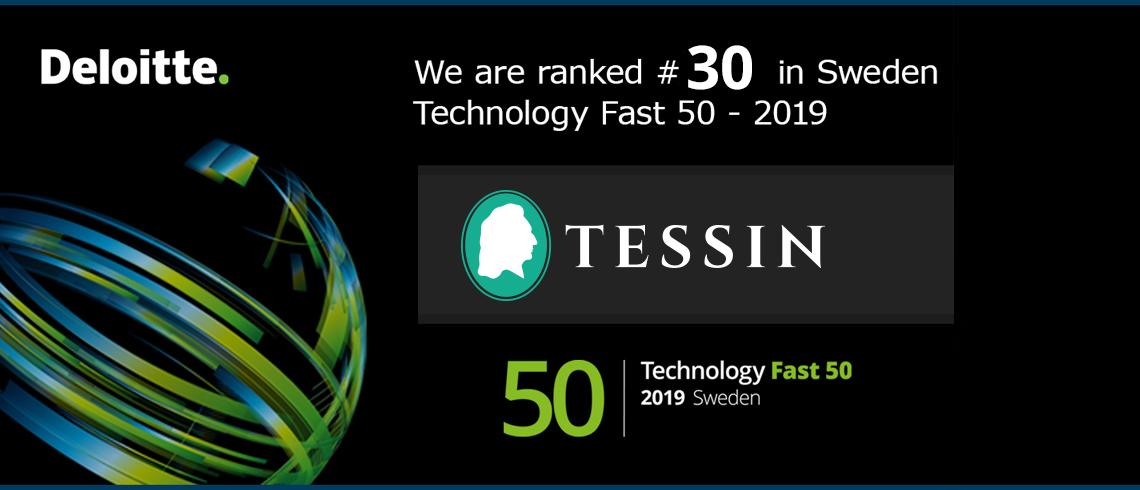 Tessin rankas som ett av Sveriges snabbast växande teknikföretag av Deloitte